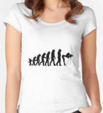 Female Photographer Evolution T-Shirt Women's Fitted Scoop T-Shirt