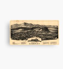 Panoramic Maps Altamont NY Canvas Print