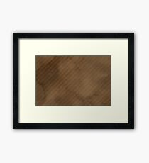 Coffee Paper Framed Print