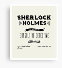 Sherlock Holmes' Business Card Canvas Print