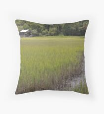 distant plantation Throw Pillow
