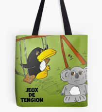 Caricature des news options binaires Tote Bag