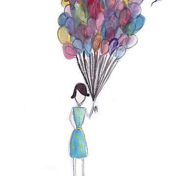 Balloon Girl by natfish