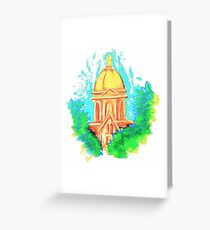 Golden Dome Greeting Card