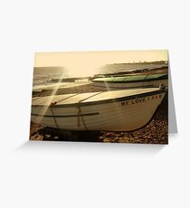 If I had a boat, I would sail to you. Greeting Card
