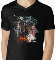 Final Fantasy VII - Collage Men's V-Neck T-Shirt