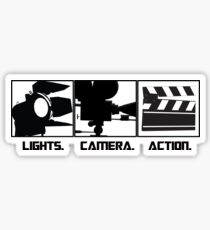 Lights.Camera.Action. Movie Maker T-Shirt Sticker