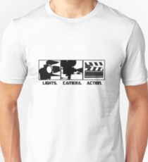 Lights.Camera.Action. Movie Maker T-Shirt Unisex T-Shirt