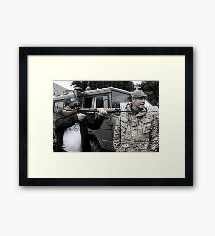 SLR Photographer Framed Print