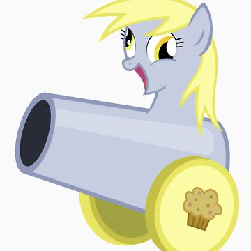 Derpy Hooves as a Muffin Cannon by Marmbo
