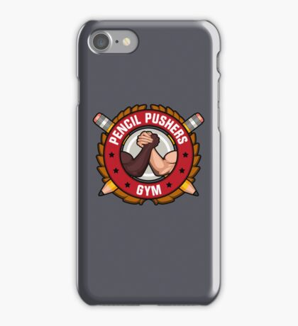 Pencil Pushers Gym iPhone Case/Skin