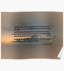 Genesis 1 6-8 Let there be a firmament in the midst of the waters Poster