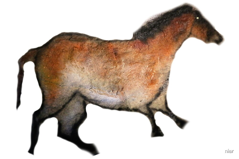 Cave Horse Painting by niar