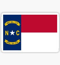 North Carolina USA State Charlotte Flag Bedspread T-Shirt Sticker Sticker