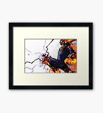 The Captain's Flying Knee Framed Print