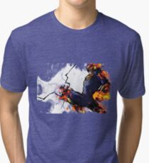 The Captain's Flying Knee Tri-blend T-Shirt
