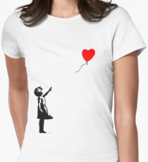 Banksy Balloon Women's Fitted T-Shirt