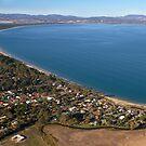 Seven Mile Beach from the air - Tasmania by clickedbynic