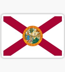 Florida USA Sunshine State Flag Bedspread T-Shirt Sticker Sticker