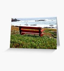 Seat For Two By The Sea Greeting Card