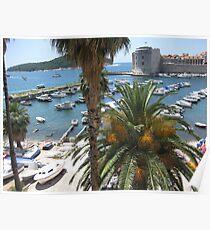 Dubrovnik Old Town Harbour Poster
