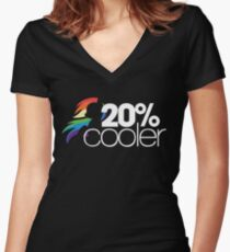 20% Cooler! (ALL options) - BLACK Women's Fitted V-Neck T-Shirt