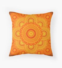 omulyana dancing mandala Throw Pillow