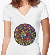 Mandala 42 T-Shirts & Hoodies Women's Fitted V-Neck T-Shirt