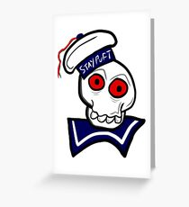 STAY PUFT SKULL Greeting Card