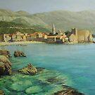Bay near old Budva by kirilart