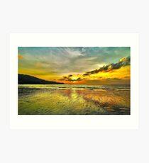 Sunset In Karon Beach Art Print
