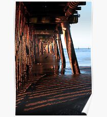 Under the Boardwalk in the late afternoon Sun Poster