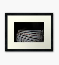 Fence Wire Framed Print