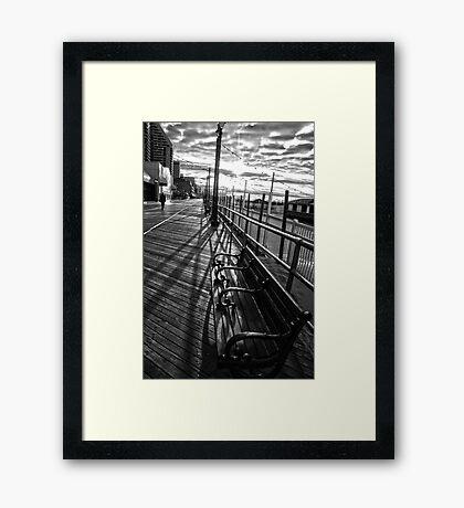 Boardwalk in Atlantic City Framed Print