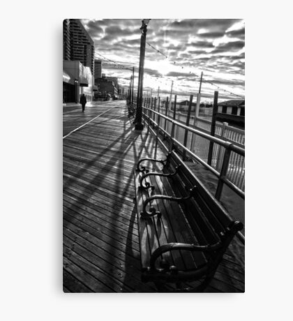 Boardwalk in Atlantic City Canvas Print