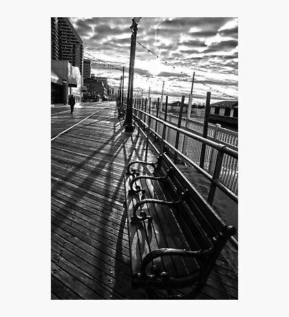 Boardwalk in Atlantic City Photographic Print