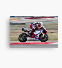 Carlos Checa at Miller Motorsports park 2012 Canvas Print