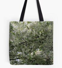 Full Bloom in White Tote Bag