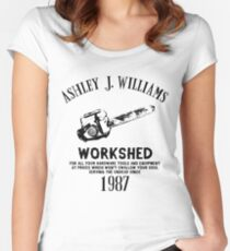 Ash vs Evil Dead - Ash's Chainsaw Women's Fitted Scoop T-Shirt