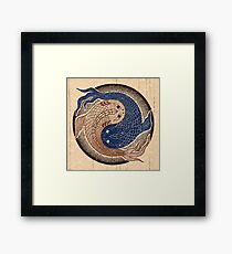 yin yang fish, shuiwudao mandala Framed Print