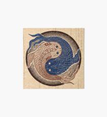 yin yang fish, shuiwudao mandala Art Board