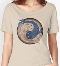yin yang fish, shuiwudao mandala Women's Relaxed Fit T-Shirt