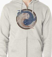 yin yang fish, shuiwudao mandala Zipped Hoodie
