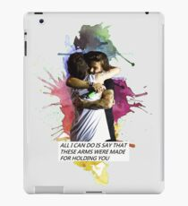 larry hug watercolor iPad Case/Skin