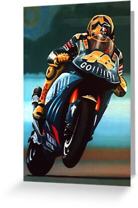 Jumping Valentino Rossi Painting by PaulMeijering