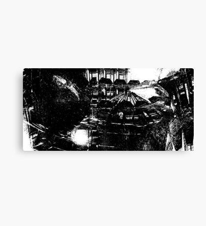 On the Fringe (B/W version) Canvas Print