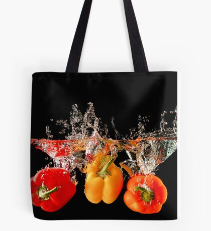 A Splash Of Peppers Tote Bag