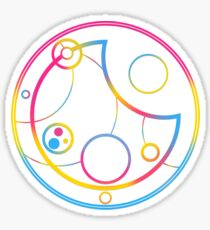 Pansexuell in kreisförmiger Gallifreyan Sticker