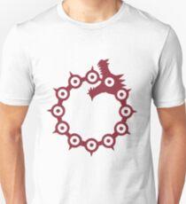 Camiseta ajustada Los Siete Pecados Capitales - El Dragón Pecado de la Ira (Rojo)