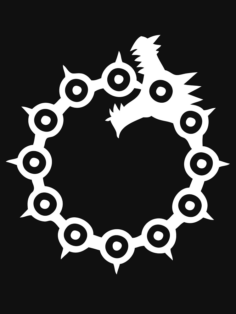 The Seven Deadly Sins - The Dragon Sin of Wrath (White) by ESilenceDesigns